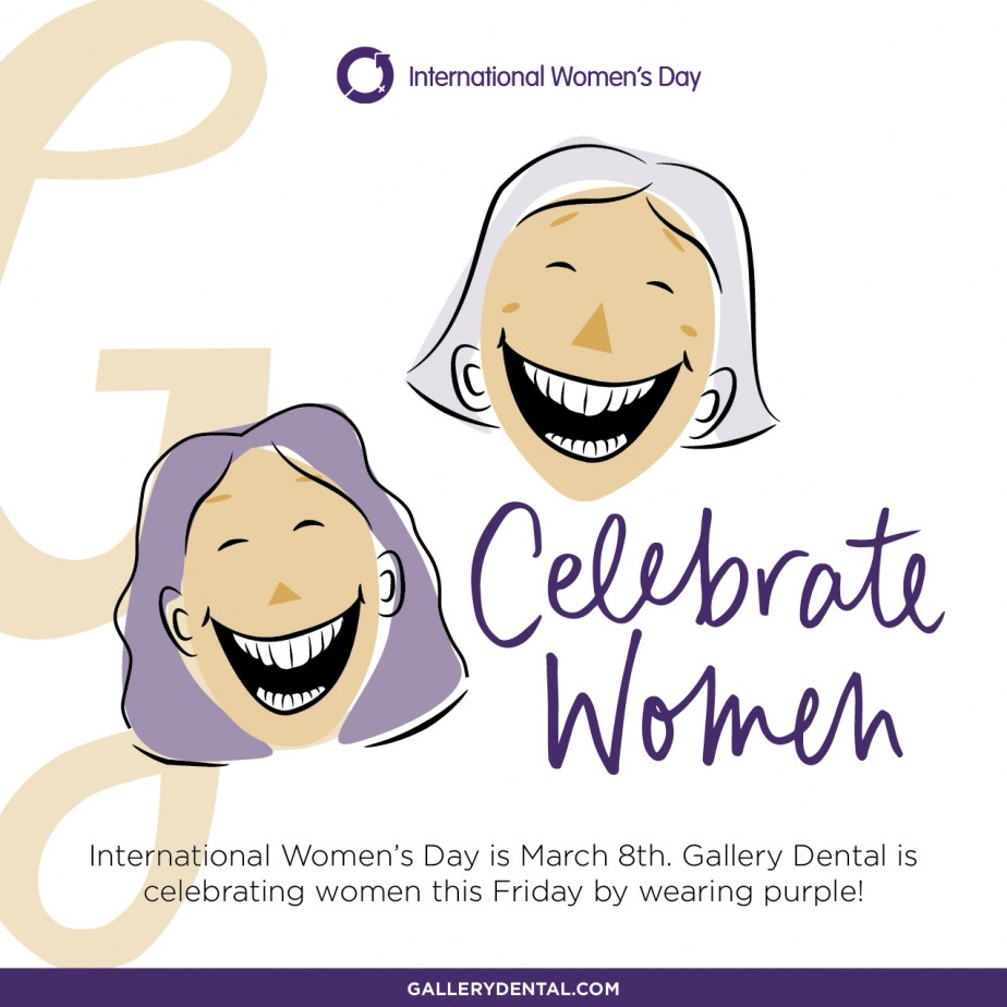 International Women's Day - Gallery Dental Paint It Purple